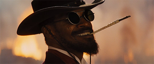 Django smiles after killing everyone of Candy's henchmen